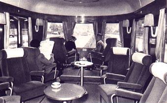 The famous panorama coach of the Henschel Wegmann train.   Photo: Archiv Michael Meinhold