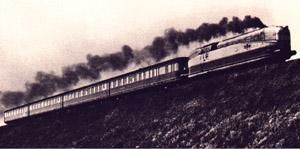 The Henschel Wegmann Zug between Berlijn and Dresden