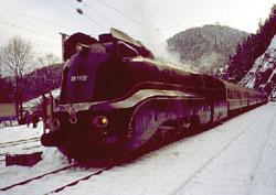 BR 01.10 streamlined steam locomotive