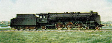 BR 02 steam locomotive of the DRG