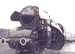 Movable cilinder coverage of the BR 10 locomotive