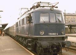 E 19 02 as 119 002 in Bamberg, April 1977 | Photo: Christian Splittgerber