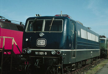 Multisystem locomotive BR 181 001 (E 310) in blue epoch III livery